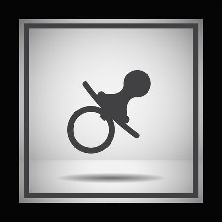 nipple: pacifier nipple vector icon