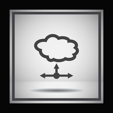 server network: cloud server vector icon Illustration