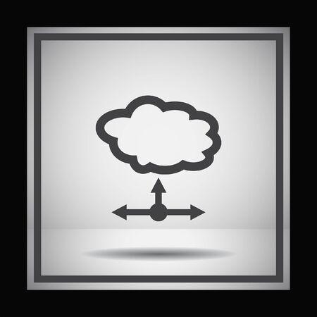 server: cloud server vector icon Illustration