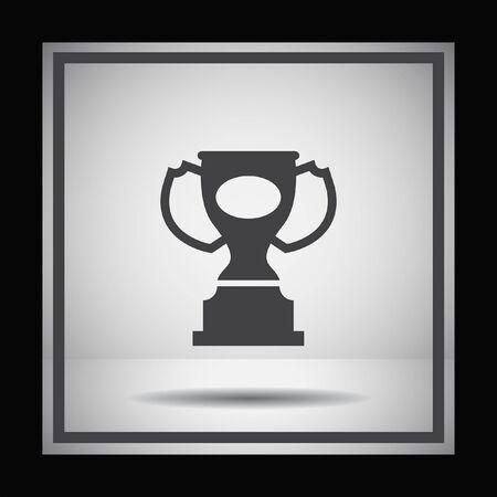 trophy award: award trophy vector icon Vectores