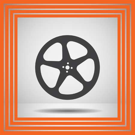 video reel: movie video film reel vector icon