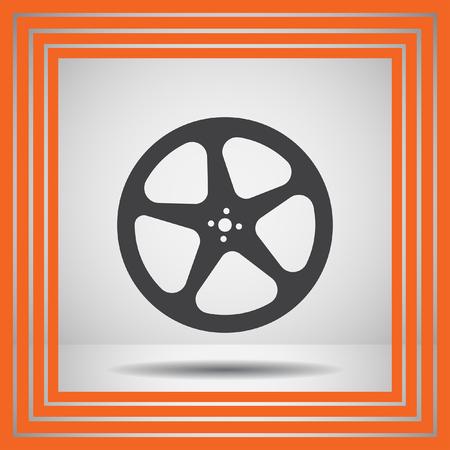 video reel: movie video film reel vector icon