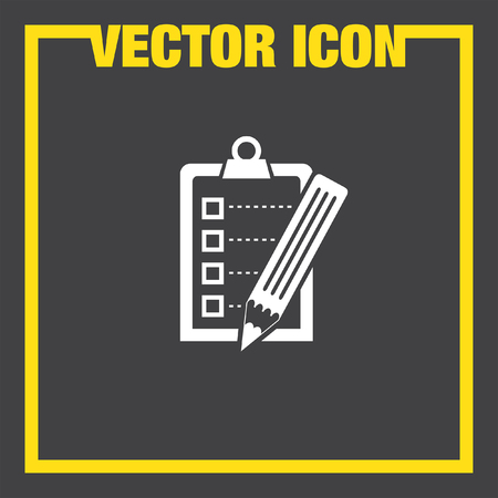 task list: check list  with pencil vector icon