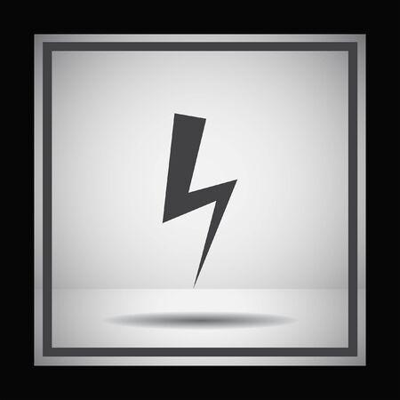 lightning storm: bolt vector icon