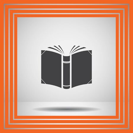 book background: open book vector icon Illustration