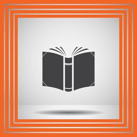 book open: open book vector icon Illustration