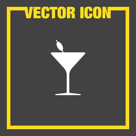 copa martini: cóctel icono vector de cristal