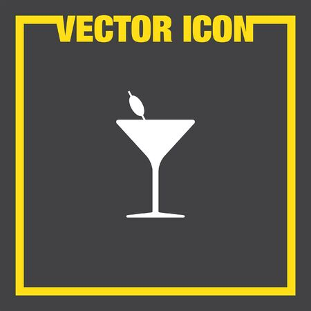 cocktail straw: cocktail glass vector icon