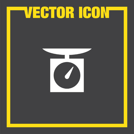 to weigh: kitchen scales vector icon