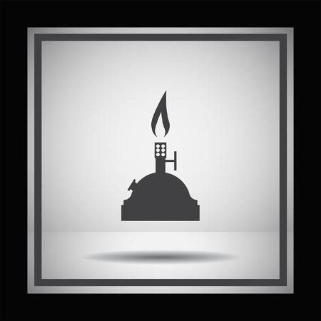 burners: laboratory burner vector icon