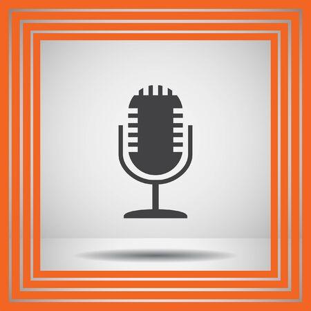 iconos de música: icono del vector del micrófono Vectores