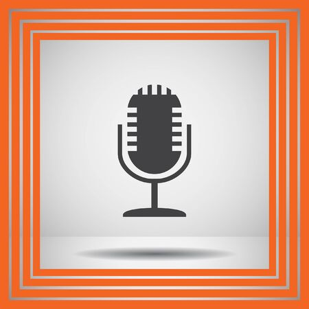 communication icons: microphone vector icon Illustration