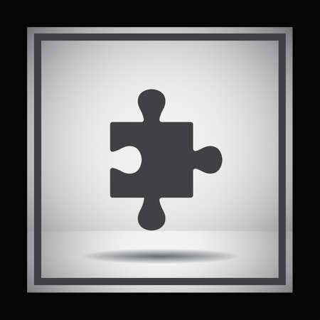 piezas de rompecabezas: icono de vector de puzzle