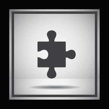 business puzzle: puzzle vector icon