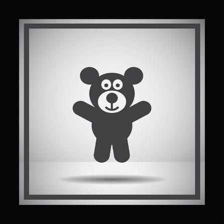 teddy: teddy bear vector icon Illustration