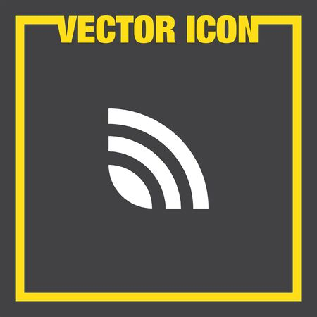 web feed: rss news feed vector icon