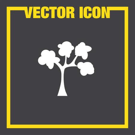 green plants: tree vector icon