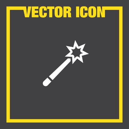 magician wand: magic wand vector icon