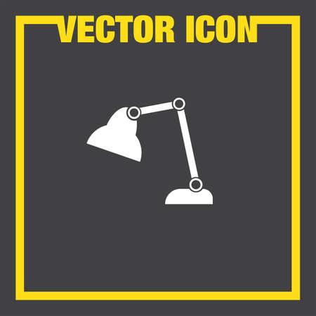 desk: desk lamp vector icon