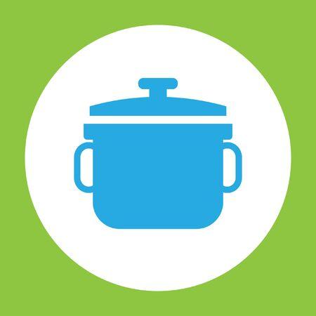 fondue: stewpot vector icon