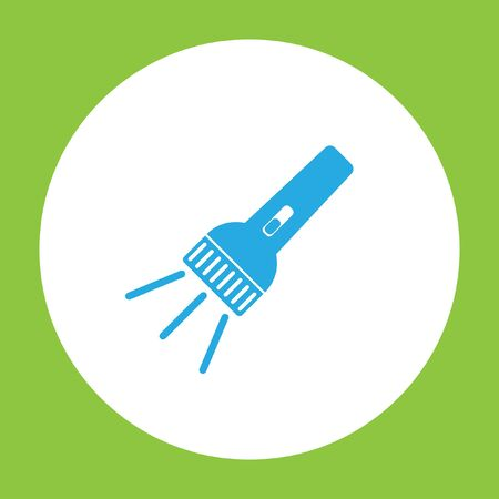 pocket flashlight: flashlight vector icon Illustration