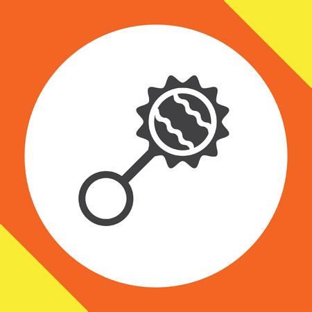 sonaja: beb� sonajero icono vectorial