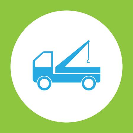 camion grua: icono de camión grúa