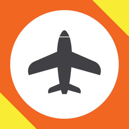 commercial airline: airplane vector icon