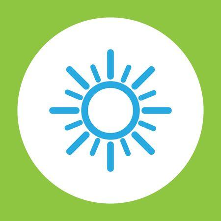 słońce: sun vector icon