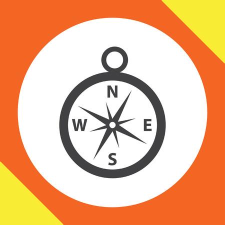 brujula: icono de vectores brújula