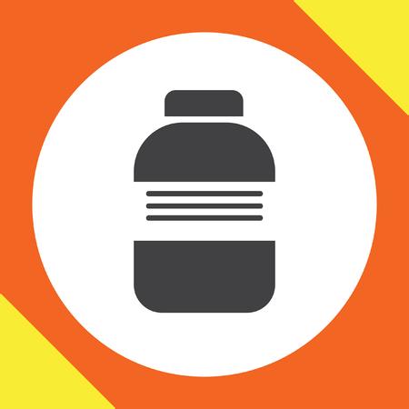 medical bottle: medical bottle vector icon
