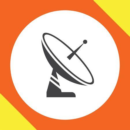 antena parabolica: icono de la antena del satélite