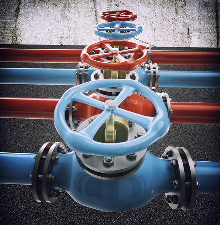 catalyst: industrial refinery oil pipes with valves