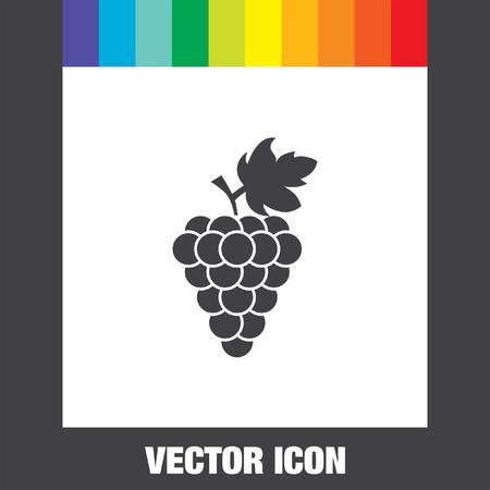 wine grapes: grape vector icon Illustration