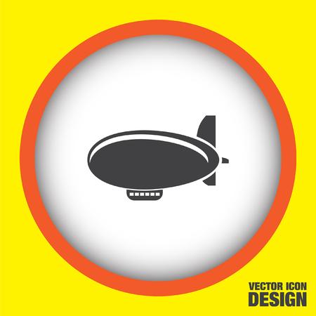 airship: airship zeppelin vector icon Illustration