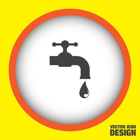 handwashing: faucet vector icon Illustration