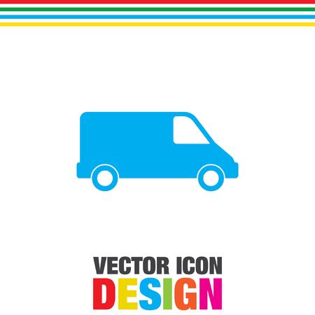 commercial: commercial van vector icon