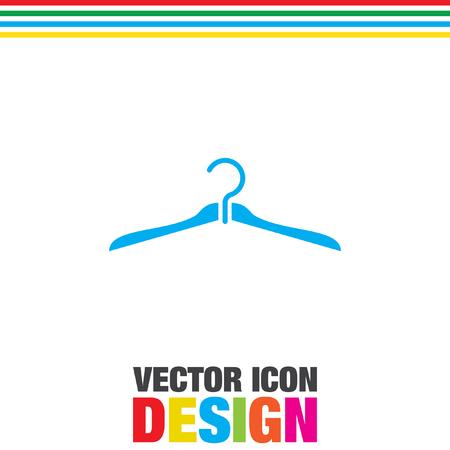 clothing rack: hanger vector icon Illustration