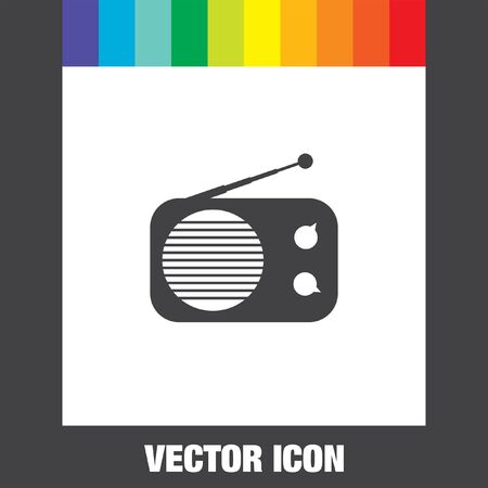 internet radio: radio vector icon