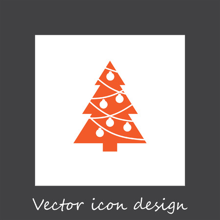 christmas icon: christmas tree vector icon Illustration