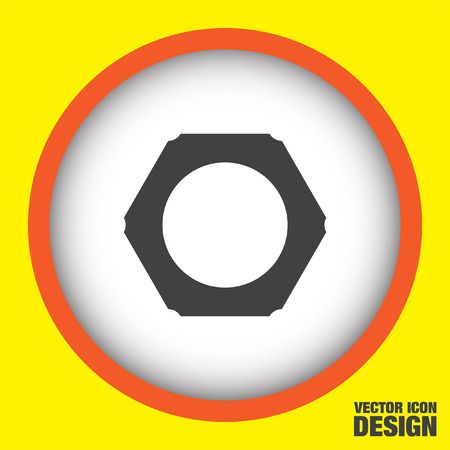 nut: nut vector icon Illustration