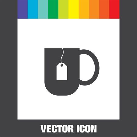 teabag: tea cup vector icon Illustration