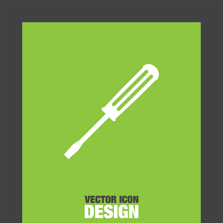 steel workers: screwdriver vector icon