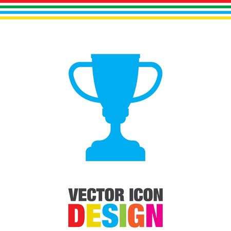 trophy: champions trophy cup vector icon