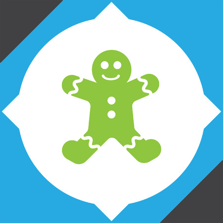 gingerbread cake: gingerbread vector icon Illustration