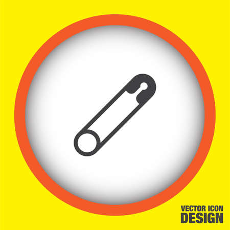 safety: safety pin vector icon