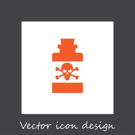 toxin: bottle with poison vector icon