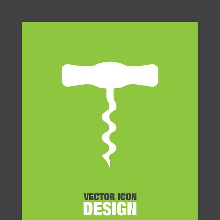 corkscrew: corkscrew vector icon