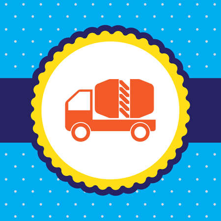transportation icons: cement truck vector icon