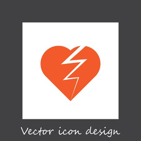 heart broken: broken heart vector icon